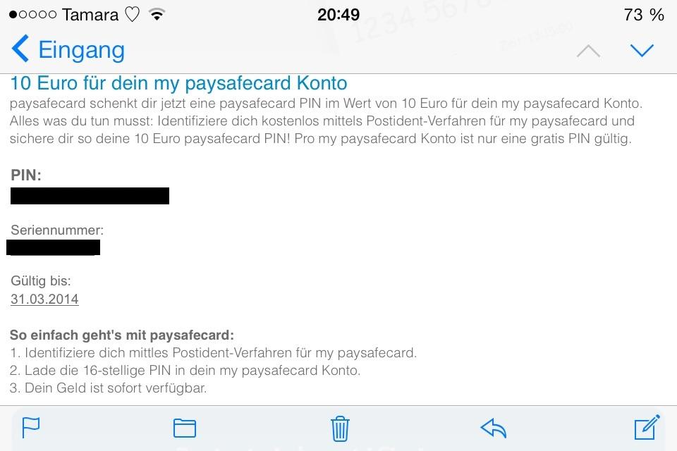 paysafecard bekommen
